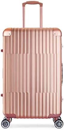 BXDYA トロリーケースすべての金属アルミニウム - マグネシウム合金4ホイールハンド荷物を運ぶスーツケース (Color : B)