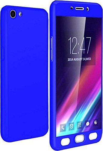 low priced 2f128 b0eef DeV 360 Degree Full Body Protection Front and Back Cover and Tempered Glass  for Oppo Neo 7 (Blue)