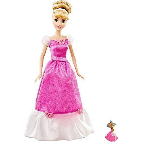 Disney Princess Cinderella Doll and Suzy Mouse Pink Exclusive Disney Princess Sparkle Doll Giftset (Disney Princess Pink Dress)