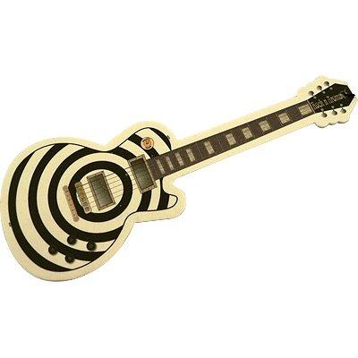 Guitar Air Freshener Black & White Bullseye Wild Tea