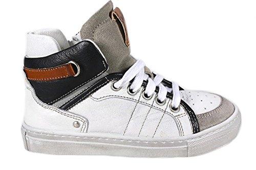 GHIAGOhoher Sneaker Momino Leder Handarbeit Weiß