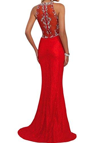 Damen Rot Steine Etui Festkleid Partykleid Beliebt Linie Rundkragen Abendkleid Ivydressing dzOUqd