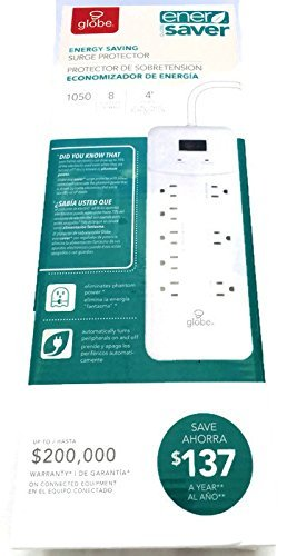 Globe EnerSaver energy saving surge protector power strip
