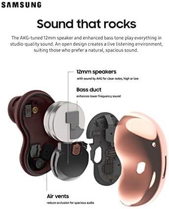 Samsung Galaxy Buds Live, audífonos inalámbricos con cancelación de Ruido Activa (Funda de Carga inalámbrica incluida), Bronce místico (versión de EE. UU.) 4