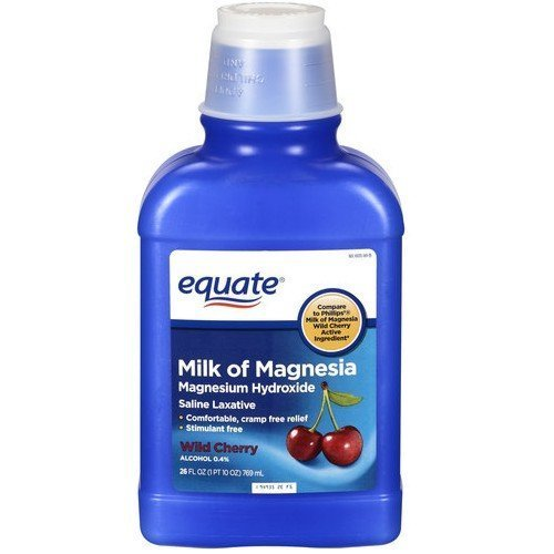 equate - Milk of Magnesia, Wild Cherry, 26 FL oz by equate: Amazon.es: Salud y cuidado personal
