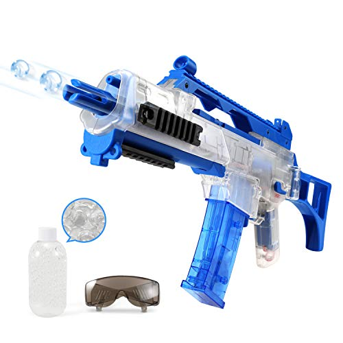 GEM Toys Airsoft Gun Semi/Fully Automatic Electric Air Rifle Gun, Electric Toys Gun with 1 Bottle 7mm Water Gel Balls, 50ft Impact Distance/100ft Max Range, Amazing Electronic Sound & Unique Action Airsoft Electric Toy Gun