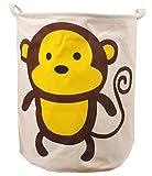 CLOCOR Large Storage basket/Collapsible Laundry Clothes Hamper Animal Pattern/Toy Storage Bin/Closet Storage Organization(Monkey)