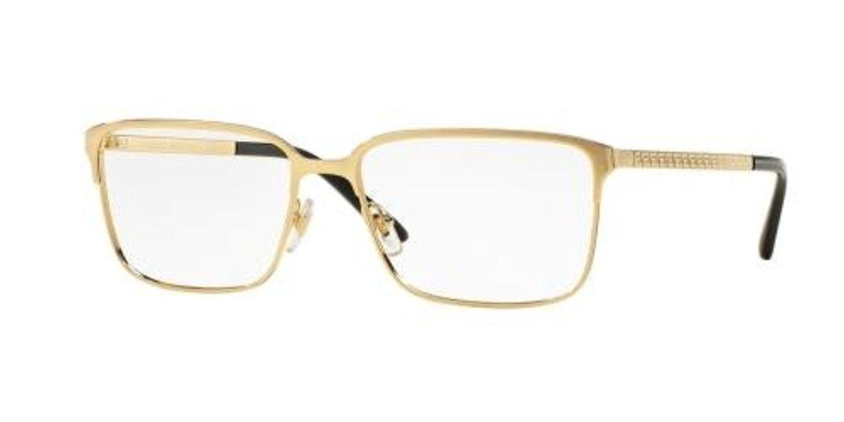 c533a0e8a7b89 Versace Men s VE1232 Eyeglasses Matte Black 54mm   Cleaning Kit Bundle