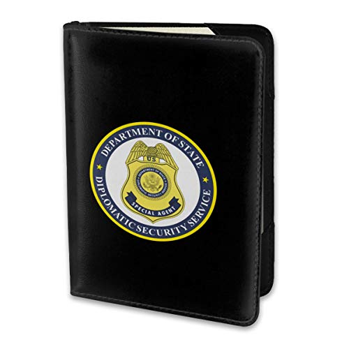 Leather Passport Holder Travel Wallet Cover Case Diplomatic Security ()