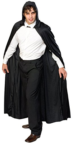 Rubie's Costume Full Length Hooded Cape Role Play Costume (2 Pack, Black) -