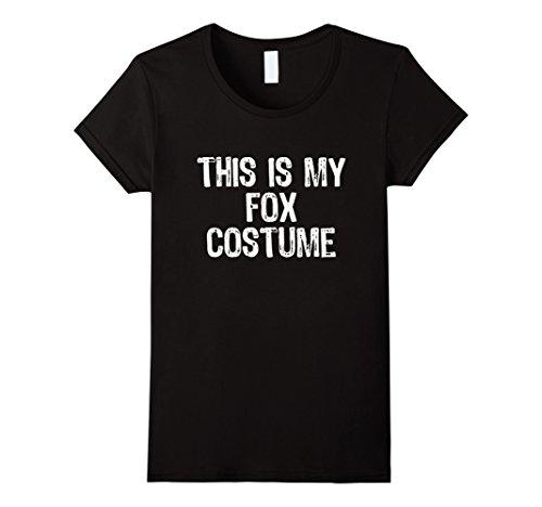 Diy Fox Costume Ideas (Womens This Is My Fox Costume Halloween T-Shirt XL Black)