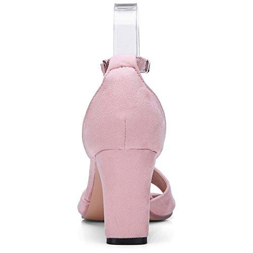 trabajo tobillo para de de Sandalias diseño decorar 1 con puntera mujer pimienta para lentejuelas el DecoStain rosa clásica de qEwaYxt