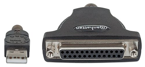 Manhattan 336581 A Male to DB25 Female Full Speed USB to Parallel Printer Converter by Manhattan (Image #2)