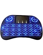 Arabic /English Layout Mini 2.4G Wireless 92 Keys backlit Keyboard with Touchpad for Android TV Box/PS3/PC/TV