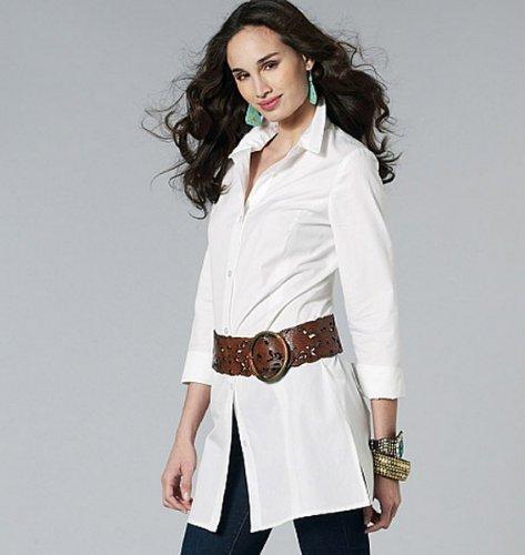 McCalls M6124 B5 - Patrones de costura para confeccionar blusas de mujer (5 modelos): Amazon.es