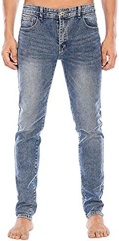 41EXT%2BbzdhS. AC LONGBIDA Men's Slim Fit Jeans Stretch Tapered Leg Jean    Product Description