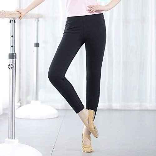 Vshiaifen 大人のダンスパンツ女性の黒の9点のズボンのズボンのバレエボディタイトなストレッチダンス7点の練習のズボン (Color : M, Size : M)