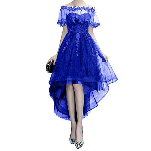 Damen Linie Festlich Schwarz A Festlichkleider Abendkleider Royal lo Langes Hi Charmant Blau Damenmode Promkleider AYdaqA