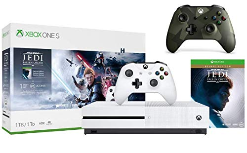 Microsoft Xbox One S 1TB Star Wars Jedi: Fallen Order Bundle + Armed Forces II (Special Edition) Wireless Controller | Include:Xbox One S 1TB console ,Star Wars Jedi: Fallen Order, wireless controller