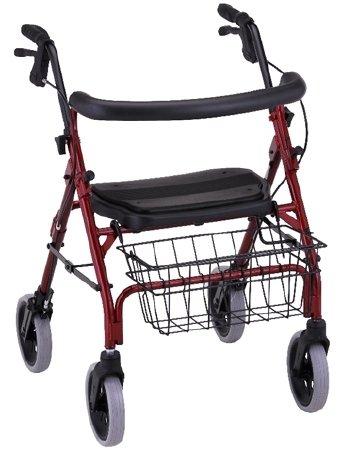 - Nova Ortho-Med Cruiser Deluxe 4 Wheel Rollator - 4202RDEA - 1 Each / Each