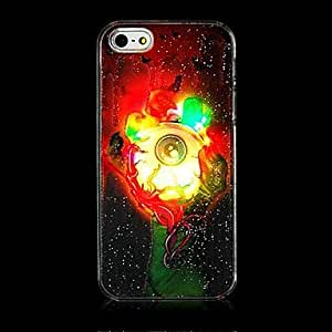 Green Hand Eye Grind Arenaceous Calls with Flash Back Case for iPhone 5/5s(Assorted Color)