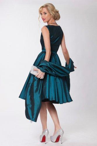 del Cl¨¢sico Estilo RBJ1401 Audrey clase Tarde 39T vestido oscilaci¨®n Vintage 1950 Hepburn SEXYHER Teal Rockabilly ropa qzXxY