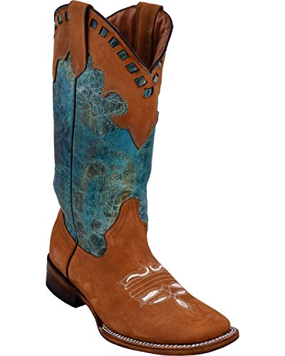 Ferrini Mujeres Old West Cowgirl Honey Bota Square Toe - 82993-29 Miel