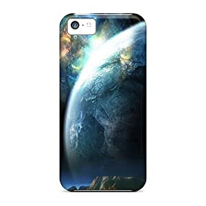 Slim Fit Tpu Protector Shock Absorbent Bumper Planet Closeup Case For Iphone 5c