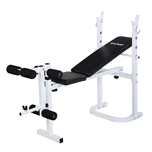 Goplus Olympic Folding Weight Bench Incline Lift Workout Press Home by Goplus