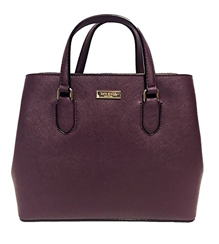 Kate Spade New York Laurel Way Evangelie Saffiano Leather Shoulder Bag Satchel (Mahogany/Wine)