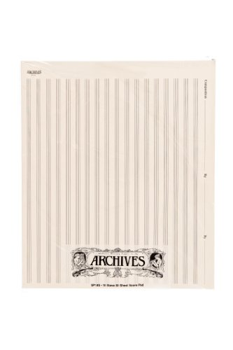 Archives Manuscript Score Pads, 18 Stave, 50 Sheets (General Music Sibelius)