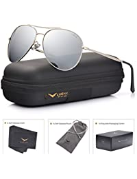 Aviator Sunglasses Mens Womens Polarized Mirror - UV 400 Protection 60mm