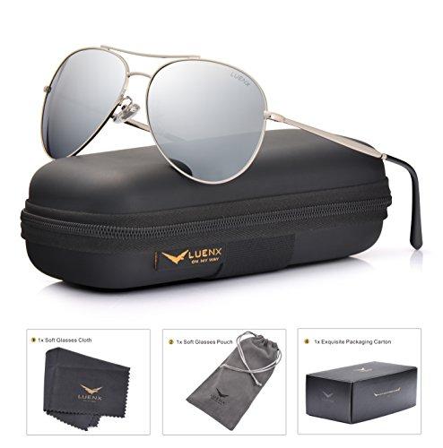 LUENX Aviator Sunglasses Non Mirror Polarized product image
