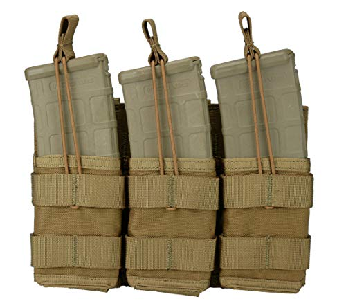 SERT Modular Triple Rifle (AR / M4 / M16) Magazine Pouch, Open Top (Shingle) (Coyote Brown)