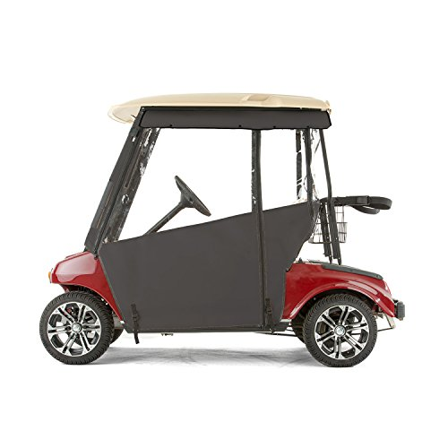 Club Car DS Golf Cart PRO-TOURING Sunbrella Track Enclosure - Black-BLK (Best Pro Touring Cars)