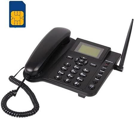 BW Wireless Quadband GSM - Teléfono fijo analógico (inalámbrico), negro