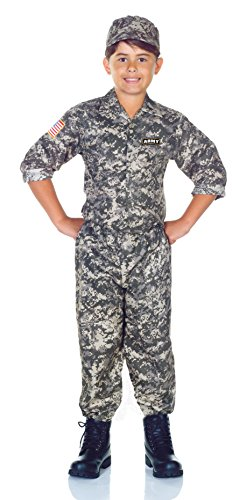 Cheap Army Costumes (Underwraps Children's Army Camo Set Costume - Camouflage, Small)