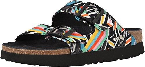 Papillio Women's Arizona Platform Sandal Pattern Clash Polychromatic Textile Size 40 EU (9.5-10 N US Women)