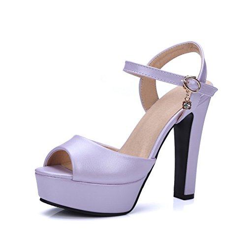Peep toe Donne Viola Pattini Fibbia Cinghia Uretano Pompe Slc03487 scarpe Adeesu Freddo Tacchi Regolabile Vestito Rivestimento gtIx1qqAwn