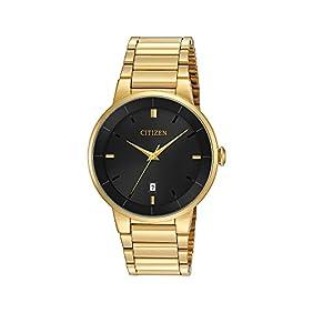 Citizen Men's Goldtone Black Dial Watch