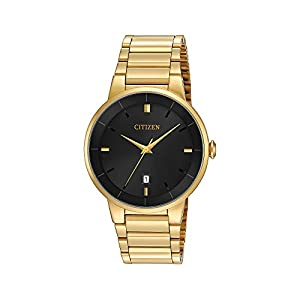 Citizen Men's Goldtone Black Dial Watch