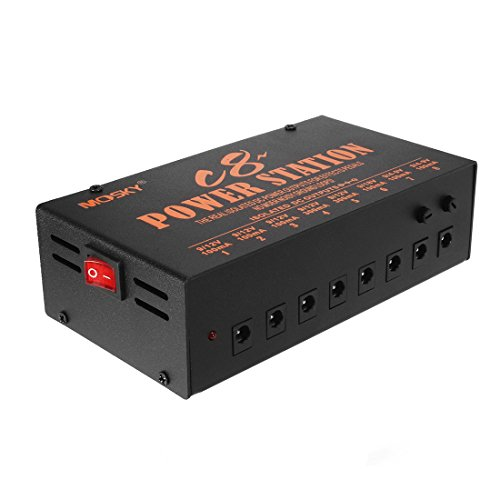uxcell Pedal Power Supply 8 Isolated Output 9V 12V 18V Effect Pedals Internal Toroidal Transformer ()