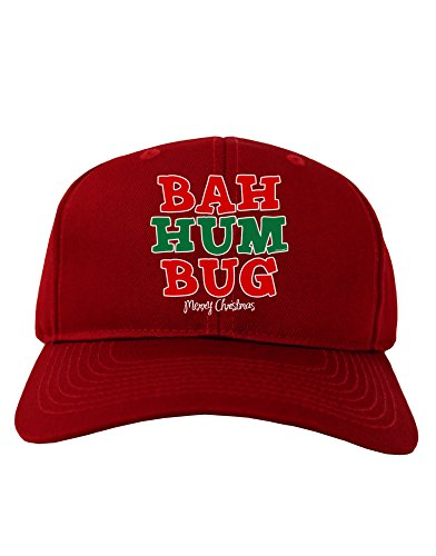 Bah Humbug Merry Christmas Adult Dark Baseball Cap Hat - -