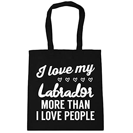 HippoWarehouse I love my Labrador more than I love people Tote Shopping Gym Beach Bag 42cm x38cm, 10 litres 41EXX65sS5L