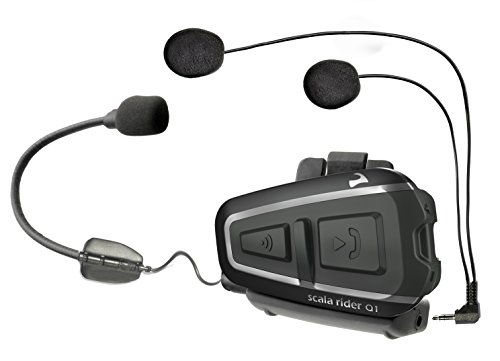 Cardo scala rider Q1 Bluetooth Motorcycle Headset and Rider-to-Passenger Communication System, Single Pack (Discontinued by Manufacturer) by Cardo scala rider