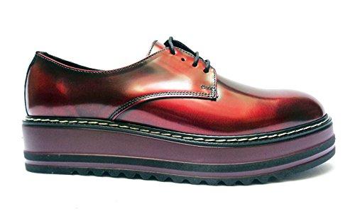 pelle abrasivata casual donna col Bord Antica da Cuoieria scarpe in SRqYB