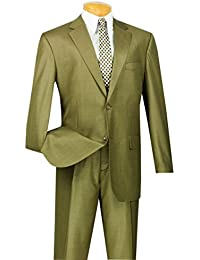 Men's 2 Button Single Breasted Classic Fit Textured Weave Suit 2LK-1