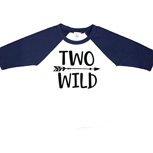 Olive Loves Apple Two Wild 2nd Birthday Shirt For Toddler Boys 2nd Birthday Shirt Boy 3/4 Sleeve by Olive Loves Apple (Image #1)