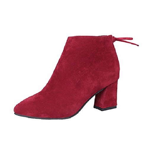 CYBLING Booties Fashion Womens Square Heel Booties CYBLING Ladies Dress Short Walking Zipper Ankle Boots B075LFYR7V Shoes a778d0