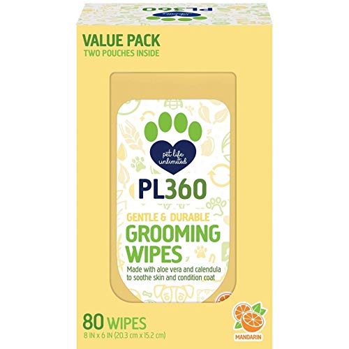 PL360 Grooming Wipes 80/Pack (2 Pack)
